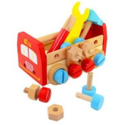 Baby Toys Take-along Tool Kit Wooden Toy Educational Nut Disassembling Tool Wooden Toys Classic Toys
