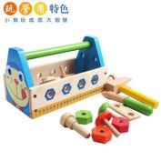 Candice Guoeducational Wooden Toy My Magic Tool Box Doraemon/ Robot Disassembly Screw Nut Tool Toy
