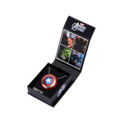 Marvel Avengers Captain America Shield Logo Stainless Steel Pendant Necklace