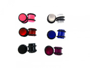AP-693 Wholesale lot mixed of 6 pairs (12 pieces) 00g ear gauges plugs acrylic
