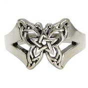 Sterling Silver Butterfly Pentacle Toe Ring Wiccan Pentagram Jewellery