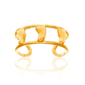 14k Yellow Gold Bare Feet Foot Toe Ring Adjustable