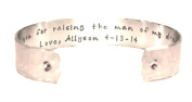Mother's Day / Mother in Law / Mother of the Groom Gift - Thank you... Custom Hand Stamped Cuff Bracelet