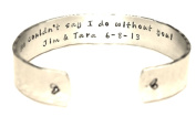 We couldn't say I do..Maid of Honour / Bridesmaid Gift Hand Stamped Aluminium Cuff Bracelet