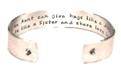 Aunt / Auntie Gift - Only an Aunt...Custom Hand Stamped Cuff Bracelet