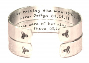 2 Piece Set - Mother of the Bride & Mother of the Groom Bracelets - Custom Hand Stamped