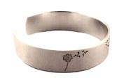 Dandelion Wish Hand Stamped Cuff Bracelet - Adjustable Aluminium Bracelet - Graduation Gift