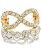 Infinity Filigree 3-Piece Stackable Stretch Ring with Two-Tone
