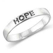 925 Sterling Silver HOPE Stackable Friendship Band Ring Size 5, 6, 7, 8, 9, 10, 11