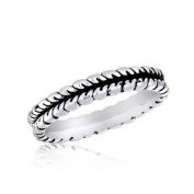 DaVinci Silver Feathers Stackable Ring