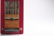 Sakura 50037 6-Piece Pigma Micron-03 Ink Pen Set, 0.35mm, Black