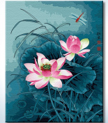 DiyOilPaintings Paint By Numbers Kits, Dragonfly and Lotus Paint By Number Kits, 41cm x 50cm