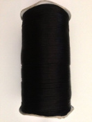 Black Satin Rattail Nylon Cord 2mm 250yd/roll DIY