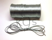 50 Yards - 2mm Silver/Grey Satin Rattail Cord Chinese/china Knot Rat Tail Jewellery Braid 100% Polyester