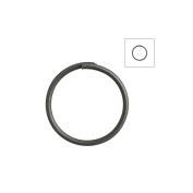 About 315pcs Zacoo Open Jump Rings Shape Round Colour Gun metal Black 10x10x0.7 Outside Diameter 10mm