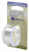 Artistic Wire, Silver Plated Craft Wire 32 Gauge Thick, 30 Yard Spool, Tarnish Resistant Silver