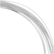 21 Ga Half Round Copper Craft Wire Silver Plate 42840