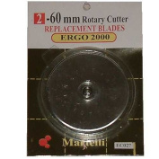 Martelli 60 Mm Rotary Cutter Replacement Blades (2pk) Works in Olfa, Fiskars & Clover