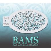 Bad Ass Swirly Mini Stencil BAM2028