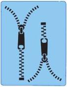 StencilEyes - QuickEZ/Zipper Design Stencil #20