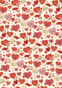 Cavallini & Co. Valentine Hearts Decorative Decoupage Poster Wrapping Paper Sheet