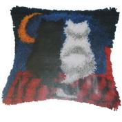 Vervaco Verachtert Latch Hook Kit Cats Kitten Pillow Rug 16 x 16