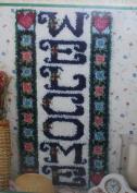 WonderArt Caron Latch Hook Kit Welcome Wall Hanging Rug 16 x 32