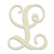 "UNFINISHEDWOODCO Single Vine Monogram Unfinished Letter, 50cm , Letter ""L"""