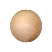 MyCraftSupplies Unfinished Wood Round Balls 1.3cm Pack of 100