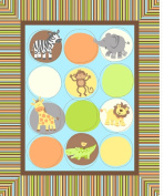 Springs Creative Products Group Safari Tots Nursery Blanket Kit, Multi-Coloured