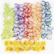 24 Hawaiian Luau Jumbo Silk Flower Leis Tropical Party