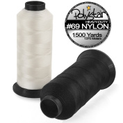 Polystar Heavy-Duty #69 Bonded Nylon Sewing Thread - 1500 Yard Spool - White