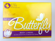 Butterfly Body Liners Pads Size S/M (28 Count) Anal Leakage
