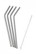 Epica Stainless Steel Drinking Straws, Set of 4 Free Cleaning Brush Included