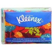 Kleenex Facial Tissue, Wallet Size, 3 Pack, 30 ct