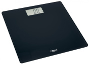 Ozeri Precision Digital Bath Scale (180kg Edition), in Tempered Glass with Step-on Activation, in Black