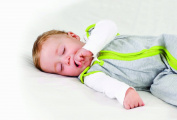Baby Deedee Sleep Nest Lite Baby Sleeping Bag, Heather Grey Lime, Medium