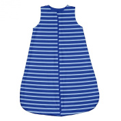 green sprouts Brights Organic Sleeper Bag, Royal Stripe, 6-12 Months
