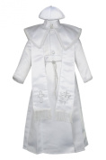 Unotux Baby Boys Christening Baptism Gown Silver Outfits Dove Cross Church 0-30M (1:
