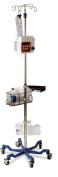 Medline Industries MDS80600 Six Leg Heavy Duty IV Pole, Stainless Steel, Latex Free, 190cm - 250cm Adjustable Height