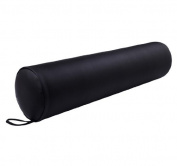 Soozier Full Round Massage Bolster Pillow - Black - 60cm x 15cm