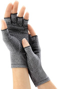 Arthritis / Compression Gloves with Grips - 1 X Pair - Ladies' - One Size Fits All (Equivalent to the Size of Small) - North American Health & Wellness
