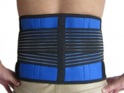 Brand New Deluxe Neoprene Double Pull Lumbar Lower Back Support Brace Exercise Belt (XXXXL
