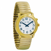 Unisex Gold One Button Talking Watch