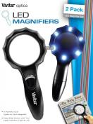 Vivitar Optics LED Magnifying Glasses 2-Pack, Viv-Mag-2