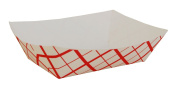 Southern Champion Tray 0425 #300 Southland Paperboard Food Tray, 1.4kg Capacity, Red Cheque