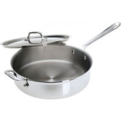 All-Clad 4405 Stainless Steel Tri-ply Saute Pan with Lid, 4.7l, Silver