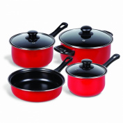 Gibson Home 83683.07 Cuisine Select Chef Du Jour 7-Piece Cookware Set, True Red