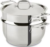All-Clad E414S564 Stainless Steel Steamer Cookware, 4.7l, Silver