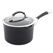 Circulon 83483 Symmetry Hard Anodized Nonstick Straining Saucepan, 3.3l
